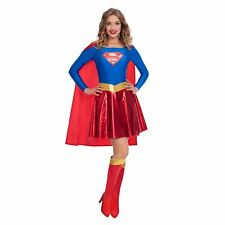 Adult Ladies DC Comic Book Supergirl Womens Superhero Fancy Dress Costume
