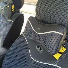 Seat Cover Shift Knob Steering Wheel Neck Cushion Grey Cloth 3D Design 42001c