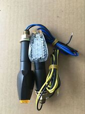 2 X Universal motocicleta señal de vuelta Indicador LED ámbar Lente Transparente Efecto Luz