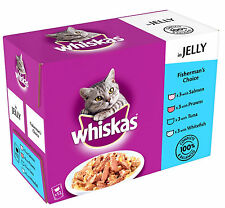 Whiskas Core Pouch Multipack 12x100g Fish Selection in Jelly Tuna Salmon Prawns