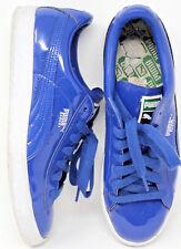Puma Basket Matte & Shine Blue Classic Mens Sneakers 358892 Sz 10 EUR 43 #12-7