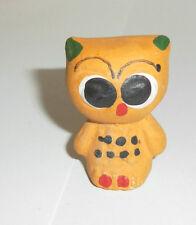 Ü-Ei altes Spielzeug Tonfiguren Toneule Ton Tiere Eule KAUZ ca. 1980