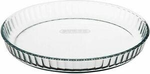 Pyrex Bake and Enjoy Glass Quiche Flan Dish High Oven Resistance 28cm, 1.6L
