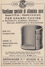 Z4003 Vasellame di alluminio - Groninger - Pubblicità d'epoca - 1933 advertising