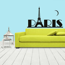 Wall Sticker Decal Eiffel Tower Decal Paris France Words Quote Paris Z1078