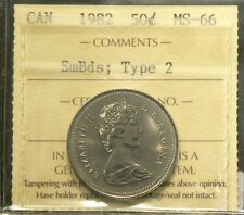 1982 Canada 50 Cents ICCS MS 66 Small Beads Type 2  #3346