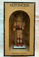 "2000 NEW MAY'S DEPT STORE Nutcracker Village BASEBALL PLAYER 14"" DOLL PINSTRIPES"