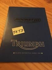 Triumph gama 2004 + póster Rocket III catálogo folleto folleto publicidad
