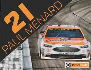 2018 Paul Menard Omnicraft Ford Fusion NASCAR MENCS postcard