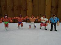 WWF Titan Figures Ultimate Warrior Macho Man Big Boss Rowdy Roddy Bulldog