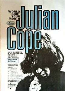 Julian Cope - World Shut Your Mouth 1984 LP and Tour Promo Flyer. Near Mint.