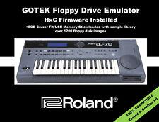 GOTEK Floppy Drive Emulator for ROLAND DJ-70 LOADED W/ 1200+ SAMPLE DISK LIBRARY