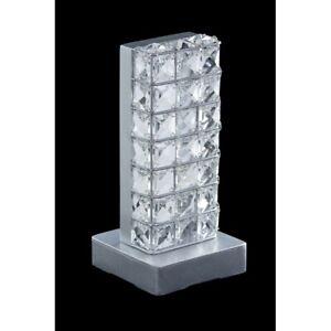 Lumetto Bedside Lamp Design Modern Crystal Silver Tp 103/LP2