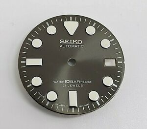 NEW REPLACEMENT DIAL FOR SE1KO 7S26-0050 10 BAR SKX023 DIVER DATE ONLY!
