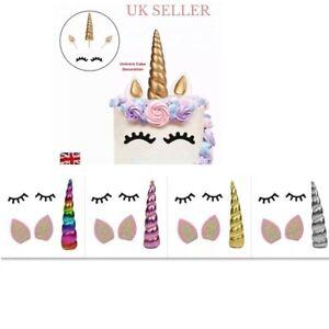 Unicorn Cake Topper Decoration Birthday Topper Cake With Eye Lashes