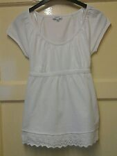 WOMENS LOVELY WHITE SUMMER TOP SIZE 8