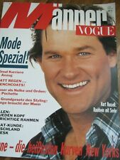 MÄNNER VOGUE Nr. 2/1989 Kurt Russell HERB RITTS Michael Roberts LOU SALVATORI