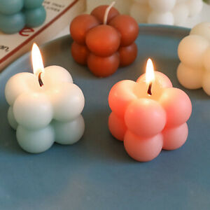 Cute Bubble Ball Cube Soy Wax Candle Essential Oil Scented Candle Gift