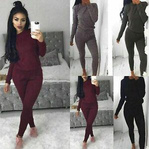 Ladies Plus Size Sweatshirt Joggers Plain Lounge Wear Womens Tracksuit