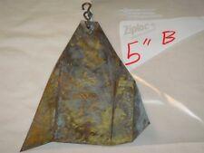 "Arcosanti Paolo Soleri 5"" Replacement Bronze Bell Fin Nice Patina Wind Catcher b"