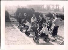 Radio Flyer Wagon Girls At Starting Line Ready To Race Phi Mu Shirt 1950s Photo