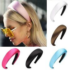 Fashion Ladies Satin Hair Hoop Padded Headband Hairband Hair Accessories Party