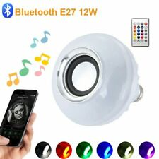 Bluetooth led lamp E27 RGB Bulb with remote control for spotlight music lamp