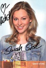 Sarah Stork, Originalautogramm, alte Autogrammkarte, u.a.