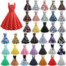 Vintage Rockabilly 1950s 60s Women's Formal Evening Party Pinup Swing Dresses