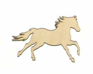 Running Horse Unfinished Wood Shape Cut Out R11405 Crafts Lindahl Woodcrafts