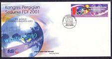 2001 Malaysia FDI World Dental Congress 1v Stamp FDC (Kuala Lumpur Cachet)
