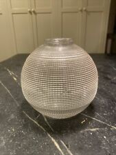 """Unique Vtg Org """" this side to wall """" HOLOPHANE """" Lamp Shade"""