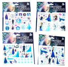 4 FROZEN TATTOO SHEETS Childrens Girls Birthday Party Gift Bag Fillers Present