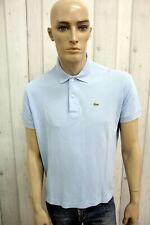 LACOSTE Uomo Taglia 5 Polo Cotone Francia T-Shirt Casual Maglietta Manica Corta