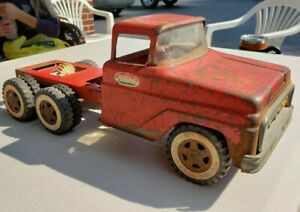 Vintage Pressed Steel Tonka Truck Cab & Long Chassis for Parts Or Restore.