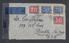 SWITZERLAND 1945 WWII CENSORED AIRMAIL COVER BASEL TO BROOKLYN NEW YORK USA