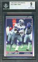 Emmitt Smith Rookie Card 1990 Score Supplemental #101T Dallas Cowboys BGS 9