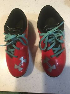 Under Armour Soccer Cleats Red Kids Sz 11 Unisex