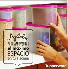 New Tupperware Modular Mates Square and Oval SET-IN CLEAR/Pink seals Color