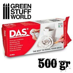 DAS Modelling Clay 500gr. White - Air Drying Scenery Sculpture Terrain basing
