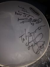Charlie Watts & Keith Richards Signed Drum Head  Rolling Stones
