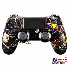 Customized Front Housing Shell Faceplate Mod for PS4 Controller Scary Party