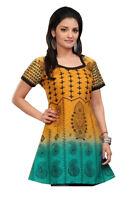 UK STOCK - Women Fashion Indian Short Kurti Tunic Kurta Top Shirt Dress 64D