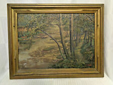 Signed And Titled Antique Oil Painting On Canvas W/ Impasto Finish