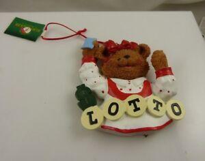 girl Bear Lotto  xmas Christmas ornament Kurt S. Adler