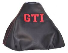 """Gear Boot For Volkswagen Polo 9N 9N2 2002-2009 Leather """"GTI"""" Red Logo"""