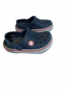 Crocs Crocband Navy Blue Clog Sandals Water Shoes Baby Toddler Size 8/9C AM10416