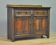 Attractive Large Vintage Ercol Carved Oak Sideboard Side Cabinet