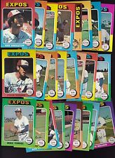 1975 Topps Team SET Lot of 25 Montreal EXPOS EX/MT- SINGLETON TORREZ DAVIS