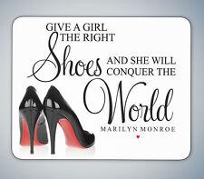 El derecho Zapatos Marilyn Monroe citar Mouse Mat Mouse Pad Computadora Pc Para Juegos De Regalo
